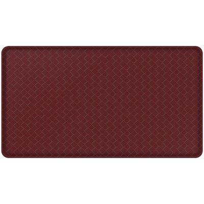Basketweave Classic Anti-Fatigue Comfort Kitchen Mat Mat Size: 18 x 3, Color: Cranberry