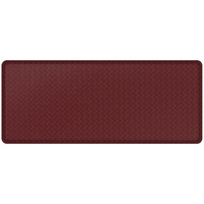 Basketweave Classic Anti-Fatigue Comfort Kitchen Mat Mat Size: 18 x 4, Color: Cranberry