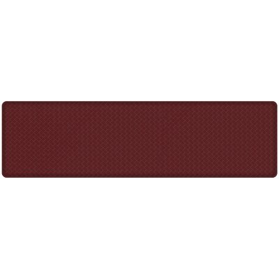 Basketweave Classic Anti-Fatigue Comfort Kitchen Mat Mat Size: 18 x 6, Color: Cranberry