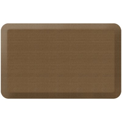 Grasscloth Designer Comfort Kitchen Mat Mat Size: 18 x 28, Color: Khaki