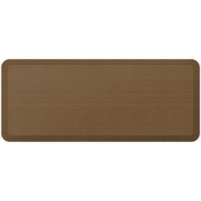 Grasscloth Designer Comfort Kitchen Mat Mat Size: 18 x 4, Color: Khaki