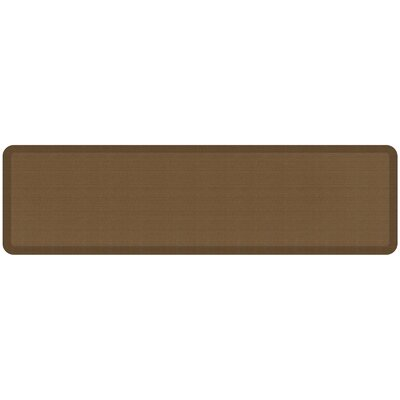 Grasscloth Designer Comfort Kitchen Mat Mat Size: 18 x 6, Color: Khaki