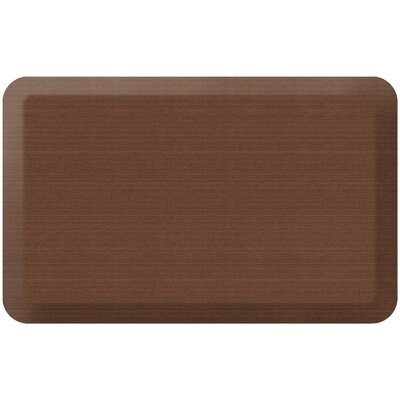 Grasscloth Designer Comfort Kitchen Mat Mat Size: 18 x 28, Color: Java