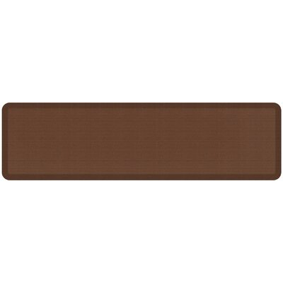 Grasscloth Designer Comfort Kitchen Mat Mat Size: 18 x 6, Color: Java