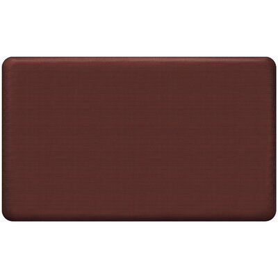 Grasscloth Designer Comfort Kitchen Mat Mat Size: 16 x 26, Color: Crimson