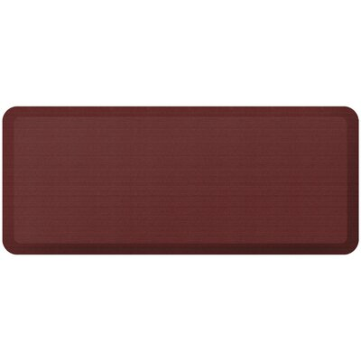 Grasscloth Designer Comfort Kitchen Mat Mat Size: 18 x 4, Color: Crimson