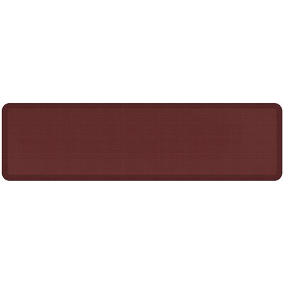 Grasscloth Designer Comfort Kitchen Mat Mat Size: 18 x 6, Color: Crimson