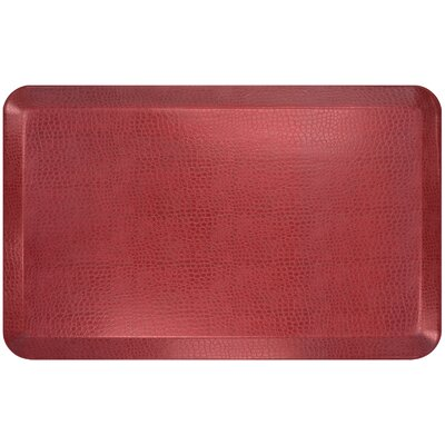 Pebble Designer Comfort Kitchen Mat Mat Size: 18 x 4, Color: Caramel