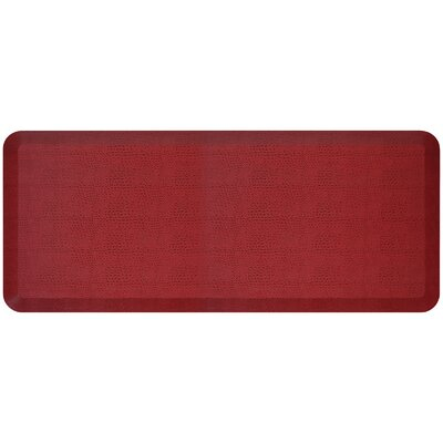 Pebble Designer Comfort Kitchen Mat Mat Size: 18 x 4, Color: Pomegranate