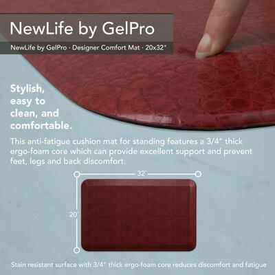 Pebble Designer Comfort Kitchen Mat Mat Size: 18 x 28, Color: Pomegranate