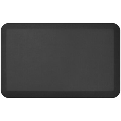 Leather Grain Designer Comfort Kitchen Mat Mat Size: 18 x 28, Color: Jet