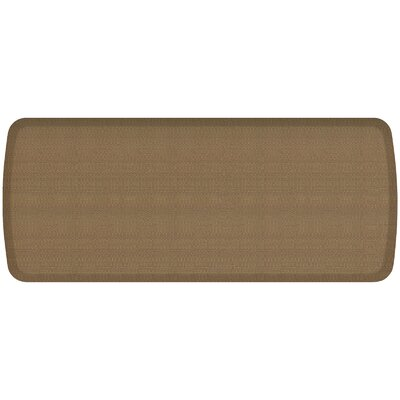 Rattan Elite Premier Comfort Kitchen Mat Mat Size: 18 x 4, Color: Summer Sand