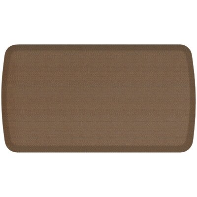 Rattan Elite Premier Comfort Kitchen Mat Mat Size: 18 x 3, Color: Honey Brown