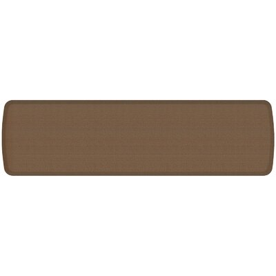 Rattan Elite Premier Comfort Kitchen Mat Mat Size: 18 x 6, Color: Honey Brown