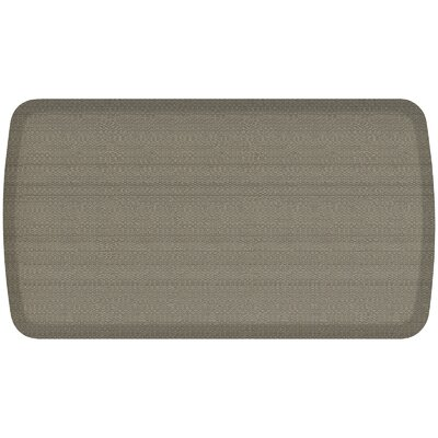 Rattan Elite Premier Comfort Kitchen Mat Mat Size: 18 x 3, Color: Galveston Gray