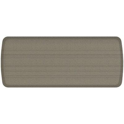 Rattan Elite Premier Comfort Kitchen Mat Mat Size: 18 x 4, Color: Galveston Gray