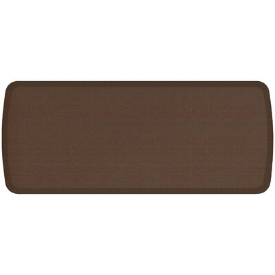 Rattan Elite Premier Comfort Kitchen Mat Mat Size: 18 x 4, Color: Redwood