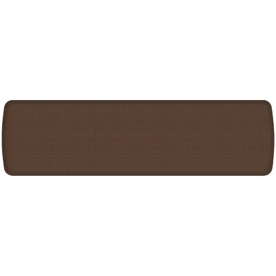Rattan Elite Premier Comfort Kitchen Mat Mat Size: 18 x 6, Color: Redwood