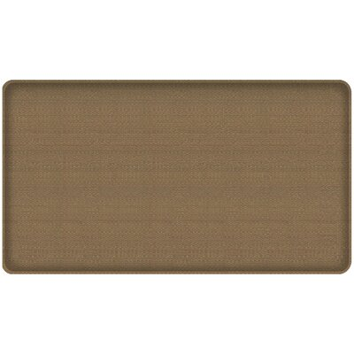 Rattan Classic Anti-Fatigue Comfort Kitchen Mat Mat Size: 18 x 3, Color: Summer Sand