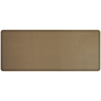 Rattan Classic Anti-Fatigue Comfort Kitchen Mat Mat Size: 18 x 4, Color: Summer Sand