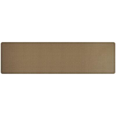 Rattan Classic Anti-Fatigue Comfort Kitchen Mat Mat Size: 18 x 6, Color: Summer Sand