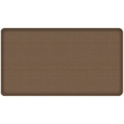 Rattan Classic Anti-Fatigue Comfort Kitchen Mat Mat Size: 18 x 3, Color: Honey Brown