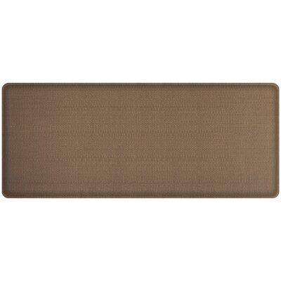 Rattan Classic Anti-Fatigue Comfort Kitchen Mat Mat Size: 18 x 4, Color: Honey Brown