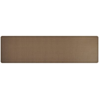 Rattan Classic Anti-Fatigue Comfort Kitchen Mat Mat Size: 18 x 6, Color: Honey Brown