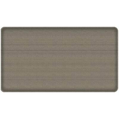 Rattan Classic Anti-Fatigue Comfort Kitchen Mat Mat Size: 18 x 3, Color: Galveston Gray