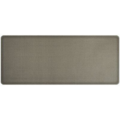 Rattan Classic Anti-Fatigue Comfort Kitchen Mat Mat Size: 18 x 4, Color: Galveston Gray