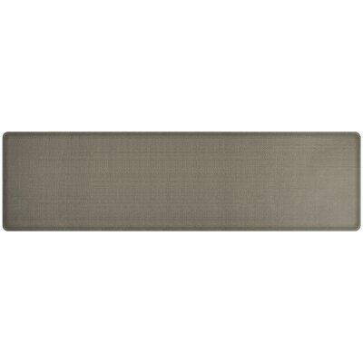 Rattan Classic Anti-Fatigue Comfort Kitchen Mat Mat Size: 18 x 6, Color: Galveston Gray