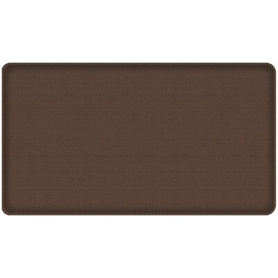 Rattan Classic Anti-Fatigue Comfort Kitchen Mat Mat Size: 18 x 3, Color: Redwood