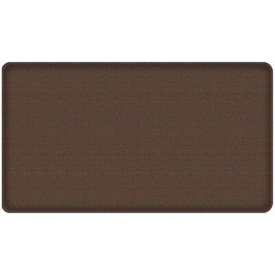 Rattan Classic Anti-Fatigue Comfort Kitchen Mat Mat Size: 18 x 3, Color: Redwood