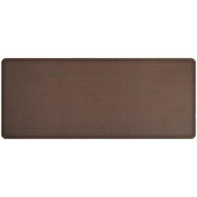Rattan Classic Anti-Fatigue Comfort Kitchen Mat Mat Size: 18 x 4, Color: Redwood