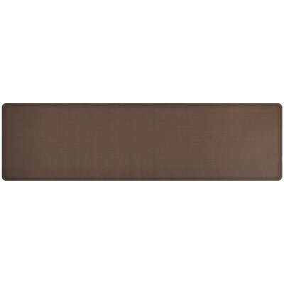 Rattan Classic Anti-Fatigue Comfort Kitchen Mat Mat Size: 18 x 6, Color: Redwood