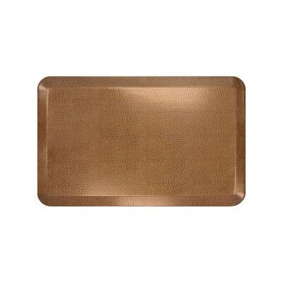 Pebble Designer Comfort Kitchen Mat Mat Size: 18 x 28, Color: Caramel