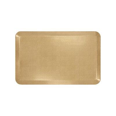 Pebble Designer Comfort Kitchen Mat Mat Size: 18 x 28, Color: Wheat