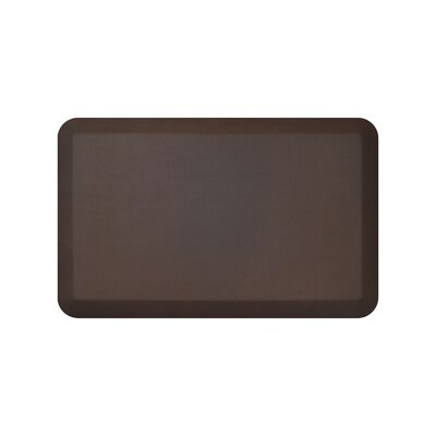 Leather Grain Designer Comfort Kitchen Mat Mat Size: 18 x 4, Color: Truffle