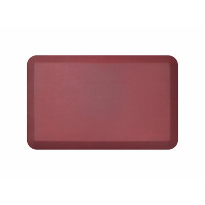 Leather Grain Designer Comfort Kitchen Mat Mat Size: 18 x 28, Color: Cranberry