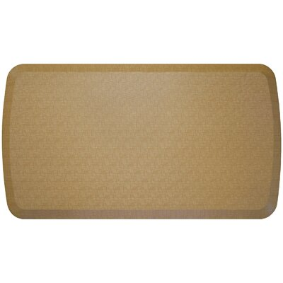 Linen Elite Premier Comfort Kitchen Mat Mat Size: 18 x 4, Color: Khaki