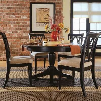 black dining table on black 7 piece round dining table set in black