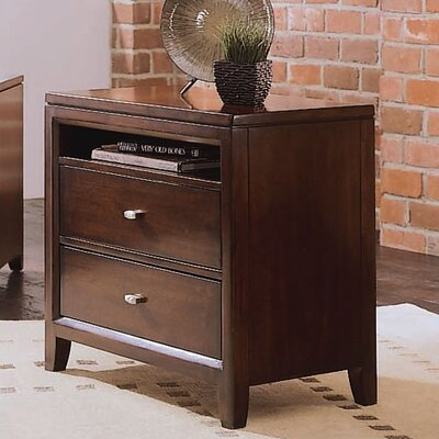 Woodlynne 2 Drawer Nightstand