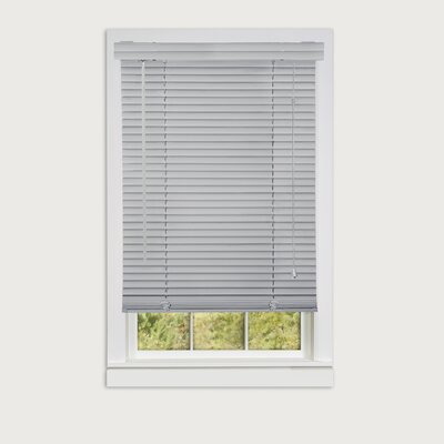 Semi-Sheer Horizontal/Venetian Blind Blind Size: 23W x 64L, Color: Gray