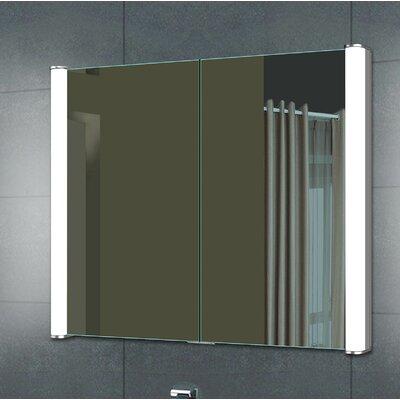 Aldgate 28 x 27.63 Recessed Medicine Cabinet with LED Lighting