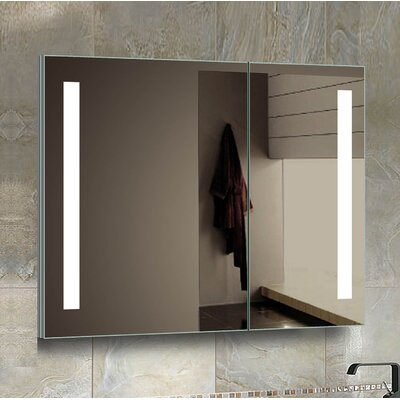 Aldreth 31.5 x 27.75 Recessed Medicine Cabinet with LED Lighting