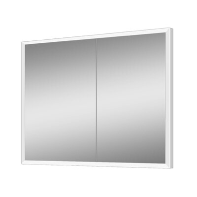 Alfredson 35.5 x 27.63 Recessed Medicine Cabinet with LED Lighting