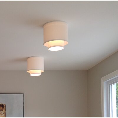 10 Linen Drum Recessed Light Shade