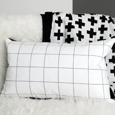Grid Linen Lumbar Pillow