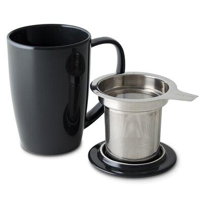Curve Tea Mug with Infuser and Lid Color: Black Graphite 386-BKG