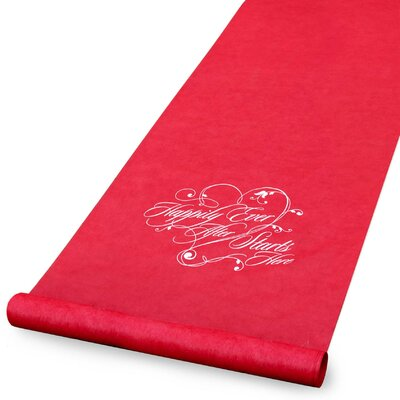 'Happily Ever After' Aisle Runner
